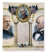 Presidential Campaign, 1892 Fleece Blanket