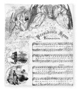 Presidents Hymn, 1863 Fleece Blanket