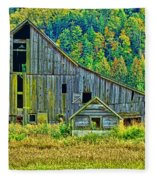 Prest Road Barn Hdr Fleece Blanket
