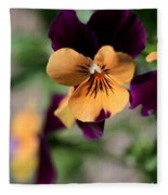Prettiest Pansy Fleece Blanket