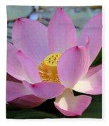 Pretty Pink Lotus Fleece Blanket