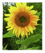Pretty Sunflower  Fleece Blanket