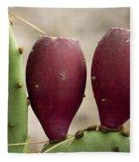 Prickly Pear Cactus Fruit Fleece Blanket