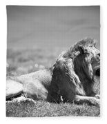 Pride In Black And White Fleece Blanket