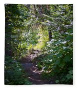 Priest Lake Trail Series IIi - Trail Shadows Fleece Blanket