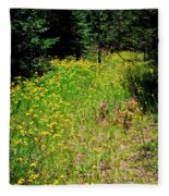 Priest Lake Trail Series Iv - Small Meadow Fleece Blanket