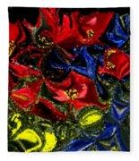Primary Garden Fleece Blanket