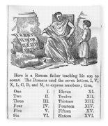 Primer: Roman Numerals Fleece Blanket