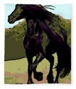 Prince Of Equus Fleece Blanket