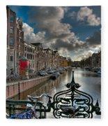 Prinsengracht And Leidsestraat. Amsterdam Fleece Blanket