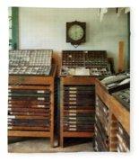 Print Shop Fleece Blanket