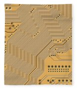 Printed Circuit Fleece Blanket