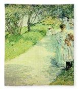Promenaders In The Garden Fleece Blanket