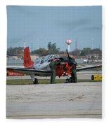 Propeller Plane Chicago Airplanes 09 Fleece Blanket