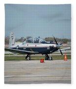 Propeller Plane Chicago Airplanes 10 Fleece Blanket