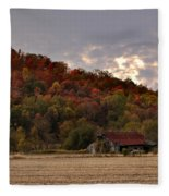 Protected By Hills Many Years Fleece Blanket