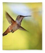 Proud Hummingbird Fleece Blanket