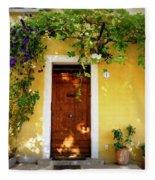 Provence Door Number 1 Fleece Blanket