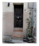 Provence Door Number 33 Fleece Blanket