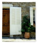 Provence Door Number 4 Fleece Blanket