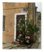 Provence Door Number 9 Fleece Blanket