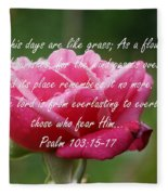 Psalm 103 Fleece Blanket