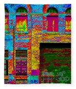 Psychadelic Architecture Fleece Blanket
