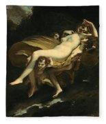 Psyche Transported To Heaven Fleece Blanket