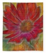 Psychedelic Flower Fleece Blanket