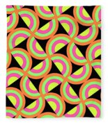 Psychedelic Squares Fleece Blanket