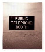 Public Phone Booth Fleece Blanket