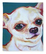 White Chihuahua - Puddy Fleece Blanket