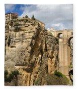 Puente Nuevo In Ronda Fleece Blanket