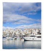 Puerto Banus In Spain Fleece Blanket