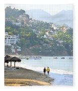 Puerto Vallarta Beach Fleece Blanket