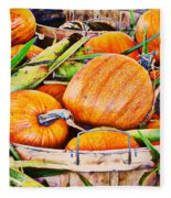 Pumpkin And Corn Combo Fleece Blanket
