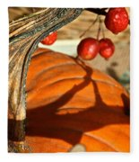 Pumpkin Berries Fleece Blanket