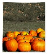Pumpkin Farm Fleece Blanket