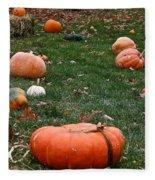 Pumpkin Field Fleece Blanket