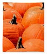 Pumpkin Harvest Fleece Blanket