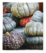 Pumpkin Pile II Fleece Blanket