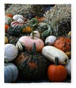 Pumpkin Piles Fleece Blanket