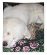 Puppy Nap Fleece Blanket