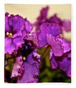 Purple And More Purple Fleece Blanket