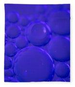 Purple Bubbles Fleece Blanket
