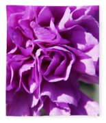 Purple Carnation Fleece Blanket