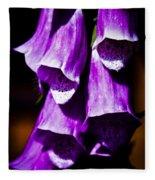 Purple Cascade Fleece Blanket