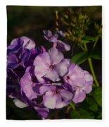 Purple Cluster Of Flowers Fleece Blanket