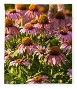 Purple Coneflower Fleece Blanket