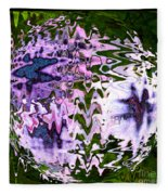 Purple Daisies World - Abstract Art Fleece Blanket